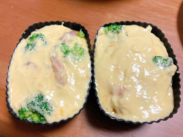 ケークサレのレシピ(型に入れていく3)