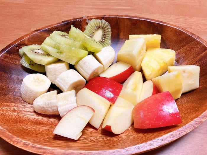 フルーツで血糖値の実験